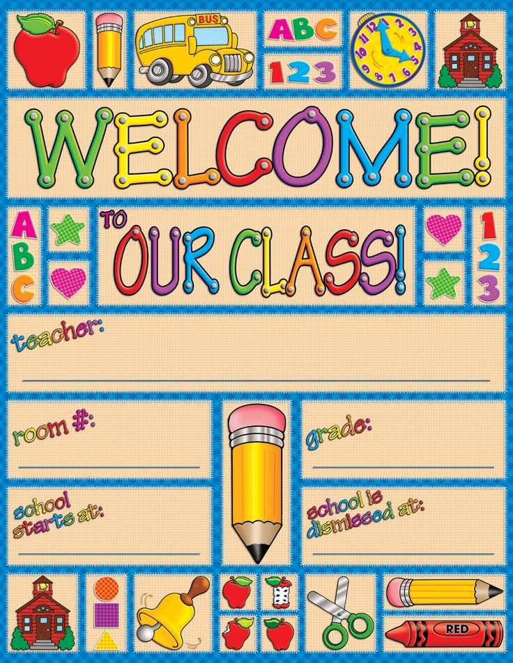 Welcome Charts For Classroom Decoration ~ Country school time welcome friendly chart