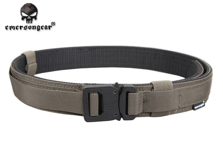 Men's 1.5 Inch Heavy Duty Military Tactical Belt Nylon Webbing Belt with Cobra Style Buckle Outdoor Shooting Hunting