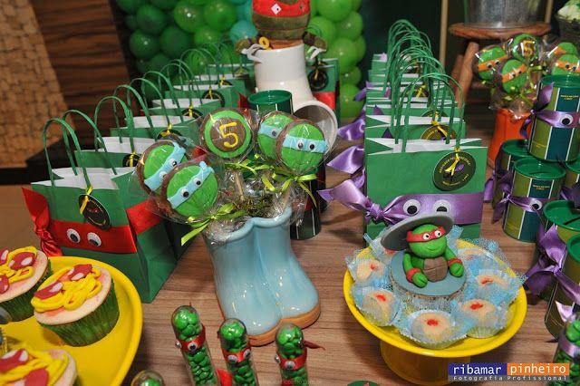 Doces Modelados - As Tartarugas Ninja - Ninja Turtles