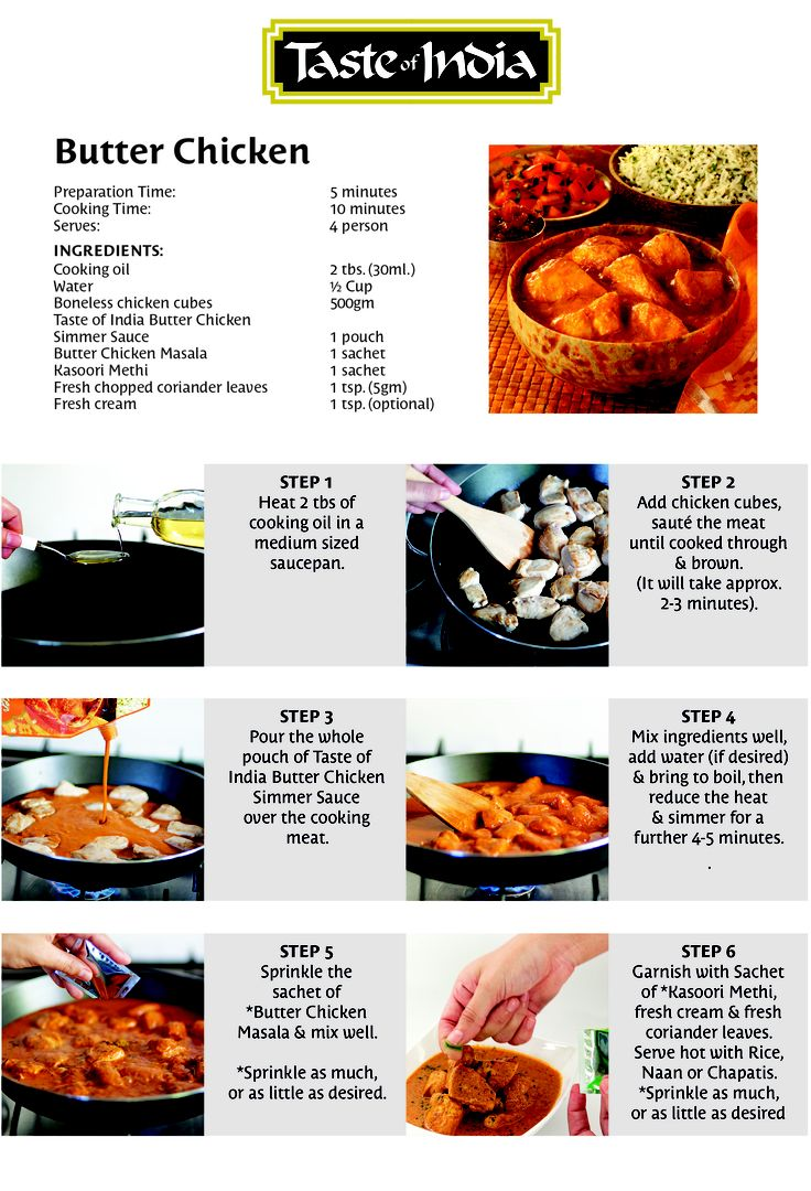 Butter Chicken Preparation Steps