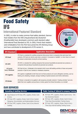 #FoodSafety IFS (International Featured Standard) at our station of #BEMCON. http://BEMCON.co.uk/