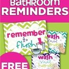 Bright and colorful signs to remind students to flush and wash, hopefully saving you from having to! Great to laminate and place on doors and near ...