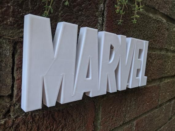 Marvel Logo Shelf Display Comics Logo Sign Glow and Color Sizing Options Super Hero Diorama – Products