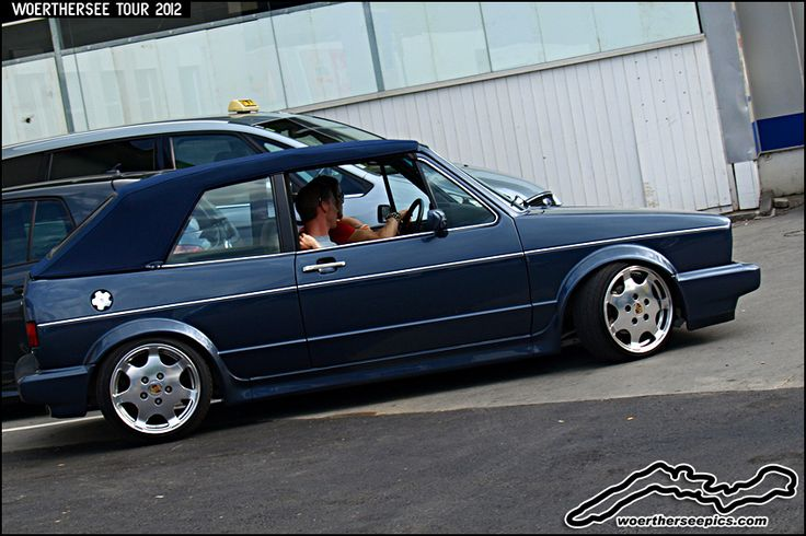 Blue VW Golf Mk1 Cabrio | Flickr - Photo Sharing!