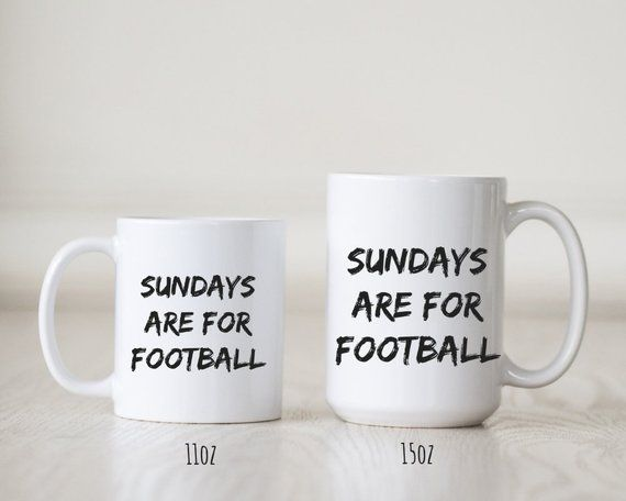 Sundays are for Football Coffee Mug, Birthday Gift, Christmas gift, Gift for Boyfriend, Gift for Him