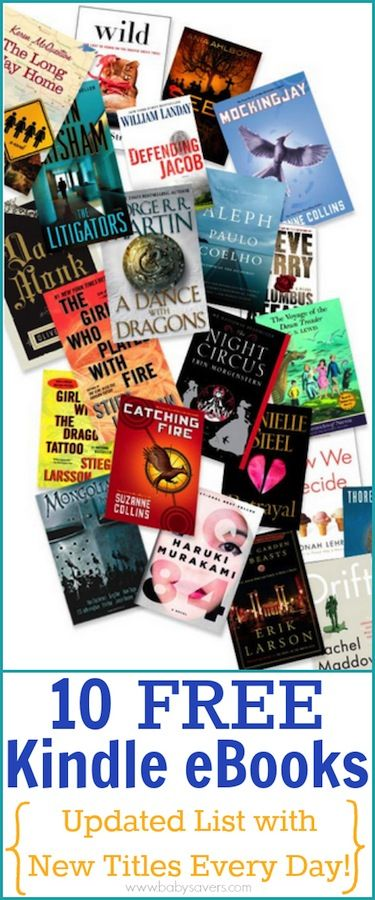 10 FREE Kindle Books: a list that's updated daily with all the newest and hottest Kindle freebies!