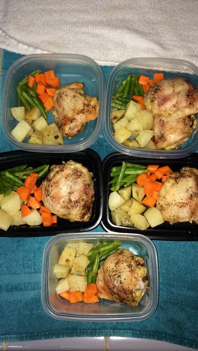 My lunch meal prep for the week :)