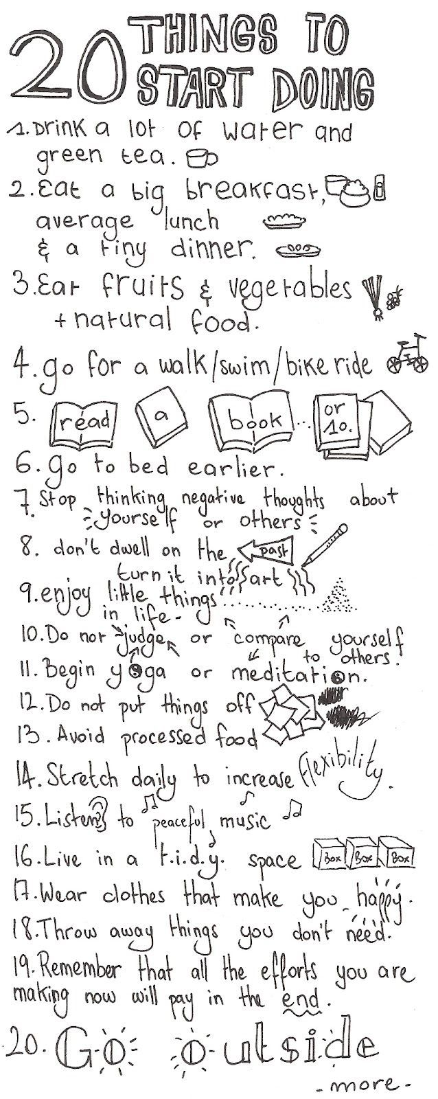 Things that I must start doing