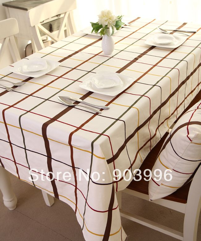 Free shipping-Spring European cotton canvas grid cloth-only 1pcs(140*200cm) #Affiliate