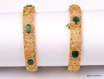 Uncut Diamond Bangles | Latest Indian Jewellery Designs