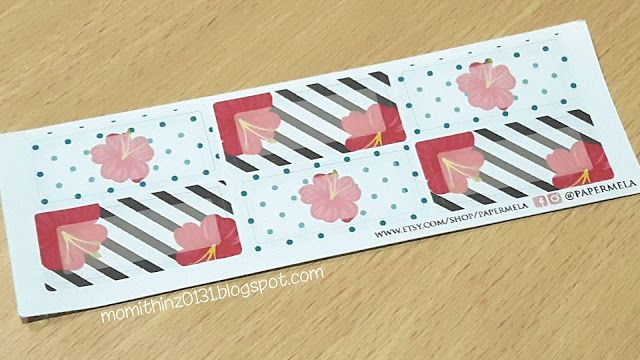 Half Box Kit 2 Hibiscus Collection Planner Stickers