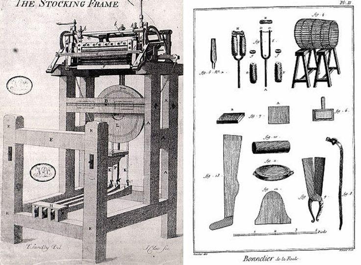 """En 1589, el inglés William Lee inventó una máquina de punto para tejer. La reina Isabel I le negó la patente, por temor a que la tecnología provocara desempleo y miseria entre sus súbditos.     """"Master Lee. Considere lo que vuestra invención podría hacer a mis pobres súbditos. Con seguridad les traería la ruina, al privarlos de su empleo, volviéndolos así mendigos""""."""