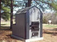 Outdoor wood burning furnace