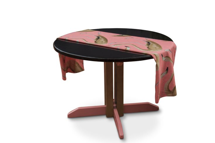 Black Gold Pink Flamingo table by Olivia @interiorsaddict #feastwatson #relove #upcycle @salvosstores