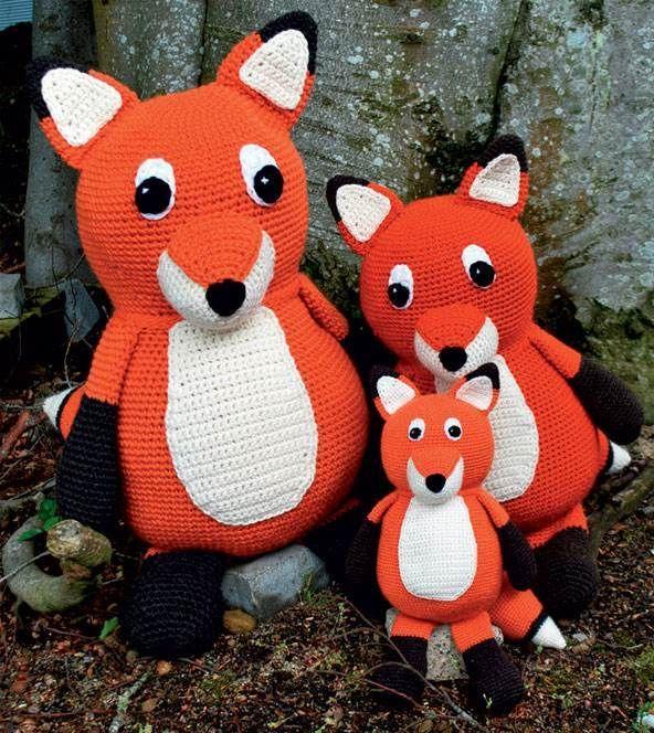 Hæklede dyr rævefamilie