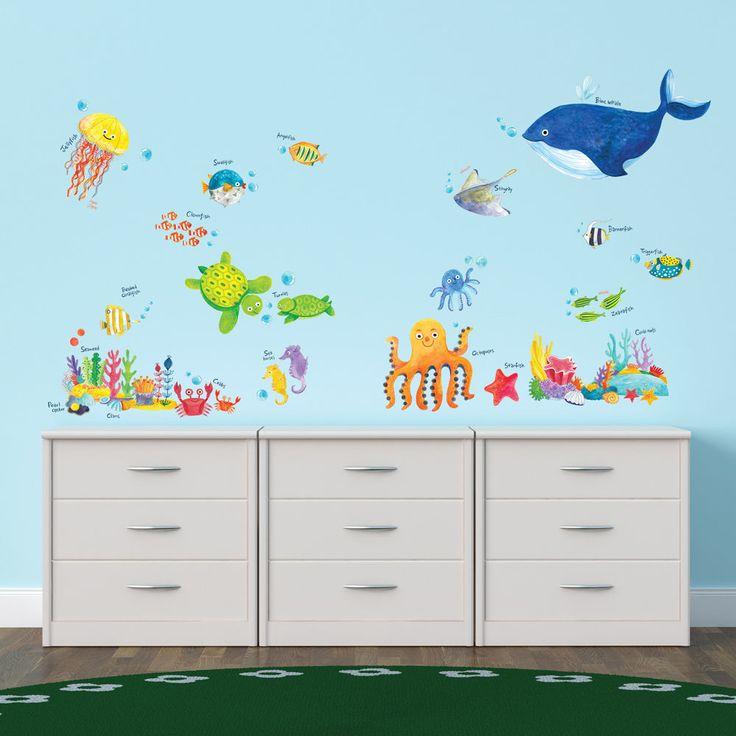 Decowall Under The Sea Wall Stickers Removable Vinyl Nursery Kid's Decals 1311  #DecowallDW1311 #EducationalFairyTaleFunny
