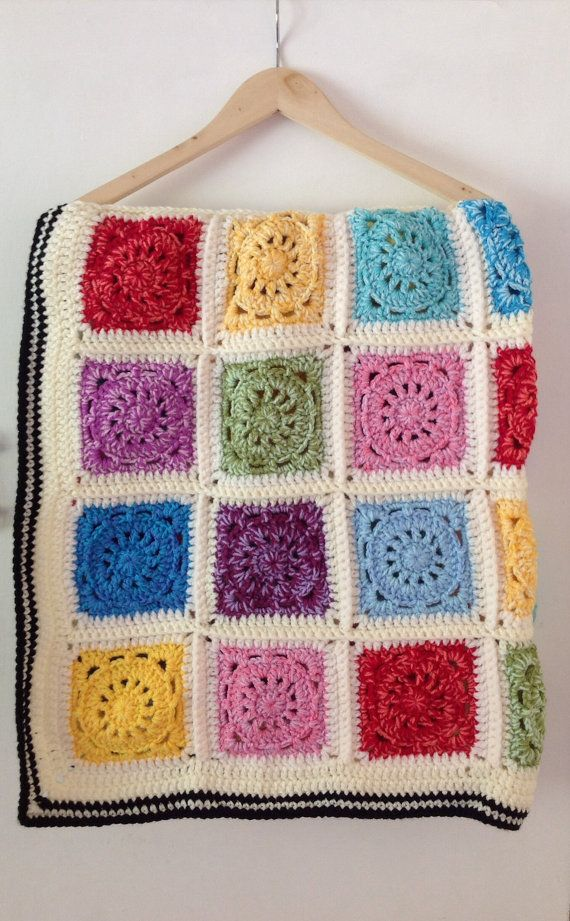 This gorgeous vintage style blanket has been lovingly handmade. It is made from high quality soft acrylic yarn, perfect for those with sensitive skin or are allergic to wool. It measures approximately a 41inch/104cm square. I crocheted it using a double strand of yarn which means