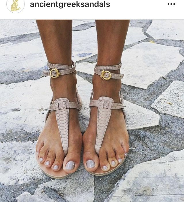 c6af6cb8733 ... Estia snakes in powder watersnake from our mythical collaboration with  good selling 8d53f 039db  Ancient Greek Sandals Estia Thong Ankle Strap  Sandal ...