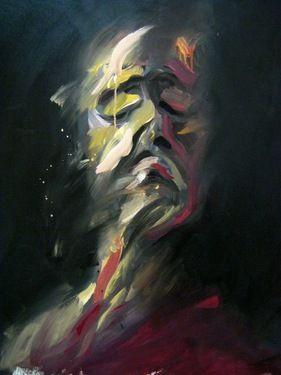 "Saatchi Online Artist Masri Hayssam; Painting, ""I 'm thinking of them.. ""Sirya series"""" #art"
