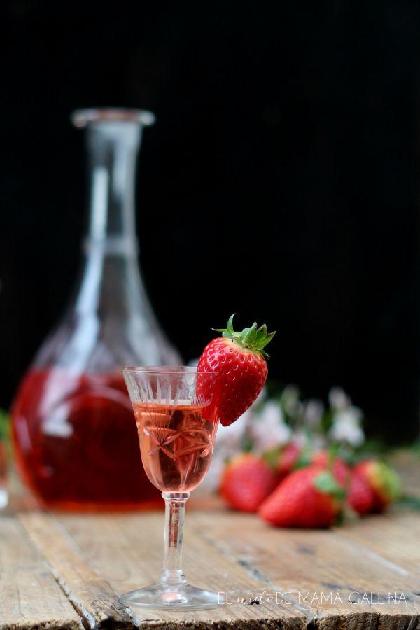 Licor casero de frutillas