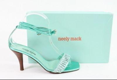 Neely Mack Tiffany Blue High Heel Shoe Pump 10 Strap Teal Aqua Turquoise | eBay
