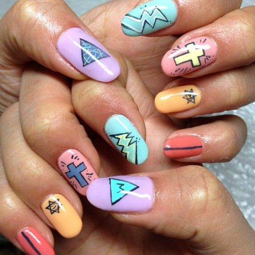 Best 25 hipster nail art ideas on pinterest black dot nails keith haring pop art nails prinsesfo Choice Image