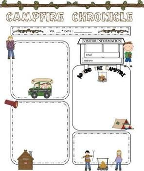 Camping Theme Newsletter Template