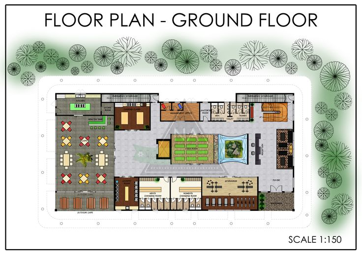 Floor Plan Of Fitness Boutique Hotel Groundfloor
