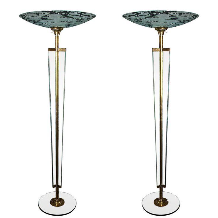 16 best art deco floor lamps images on pinterest for Art deco floor lamp canada