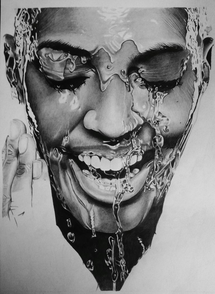 Realistic water process drawing #hd #water