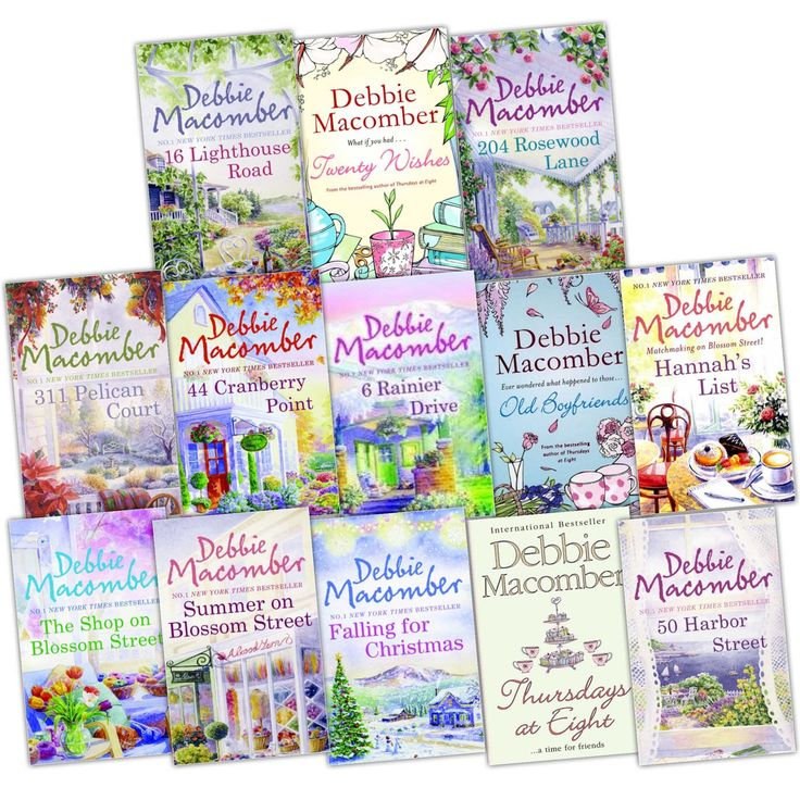 Debbie Macomber Cedar Cove Collection. One of my favorite authors and my favorite series. Can't wait for the tv series to start.