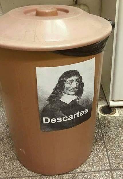 René Descartes foi um grande filósofo, este é apenas um trocadilho infame, relevem.