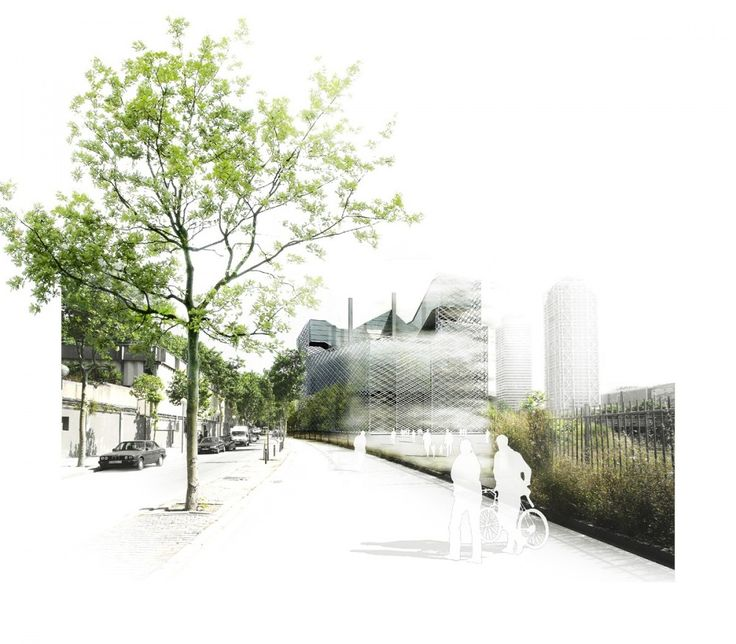 Prothofactory / Marta Garcia-Orte + Aaron Tregent  Love the transition from real photography to white to white silhouettes