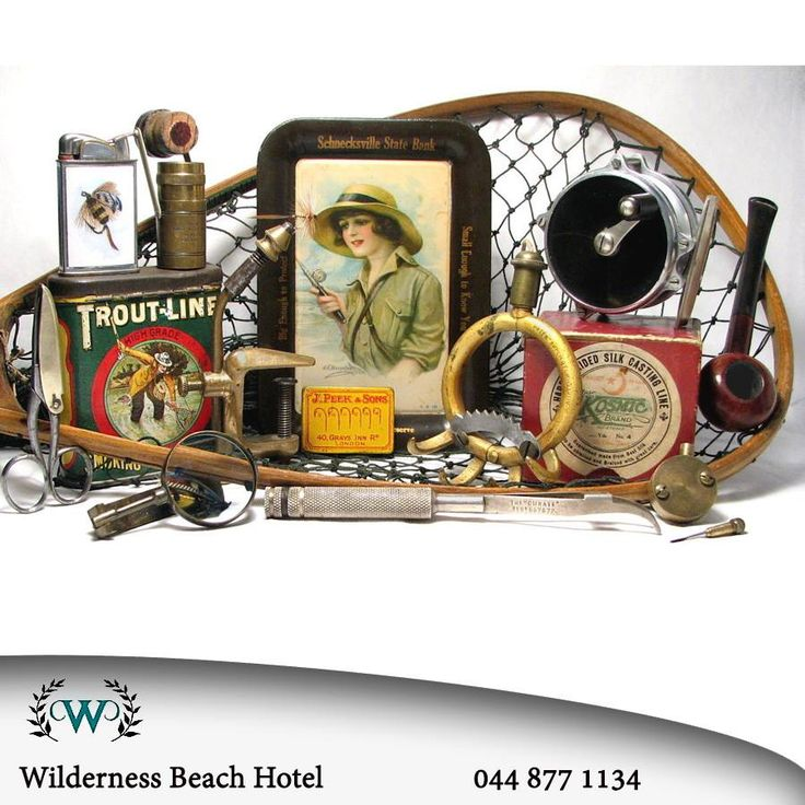 This throwback Thursday we have found some equipment that might interest you. Have a look at this collection of fishing tack and gear, people have been fishing for centuries and it is still a popular activity today, especially in Wilderness. #tbt #throwback #fishing