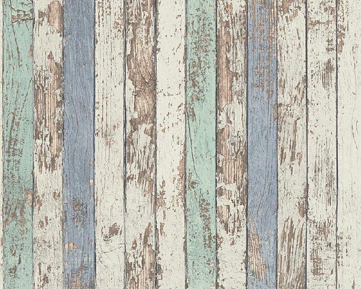 AS Creation dekora natur 6 vliesbehang 95914-1 planken hout blauw aqua