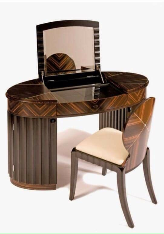 Contemporary Art Deco Style Carrington Dressing Table By Shilou Furniture.  A Retro Version Of An Old Classic Style.
