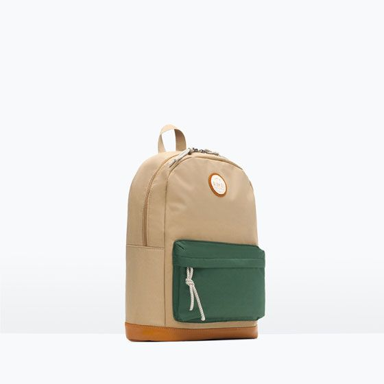 Image 1 of CONTRAST BACKPACK from Zara