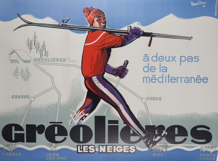 Skiing |VINTAGE POSTERS ONLY | MELBOURNE AUSTRALIA