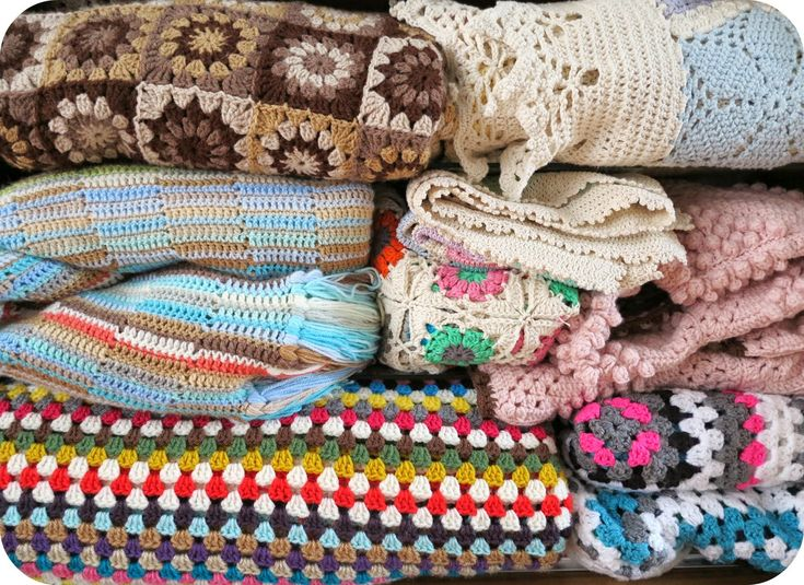 ByHaafner, crochet, blanket and throws, granny square, granny chic