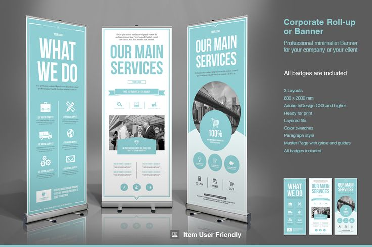 Business Roll Up Banner By Typoedition On Creative Market