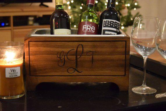 Personalised Ice Bucket Wine Cooler Champagne Wedding Gift Present Idea