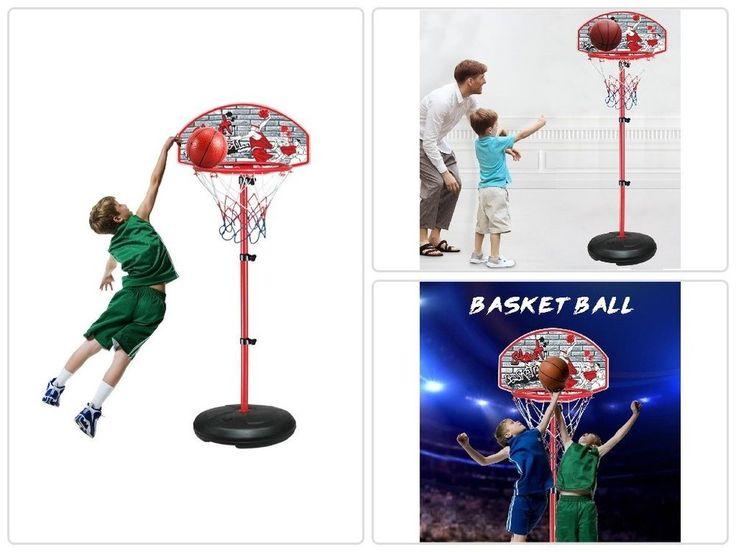Kids Adjustable Basketball Hoop 90In Set W/ Ball Pump Height Portable In/Outdoor #psdiscount #psdiscountshop #nba #kids #sport #basketball