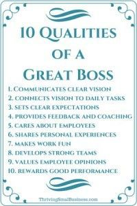 How to Be a Good Boss – 10 Qualities of a Good Boss