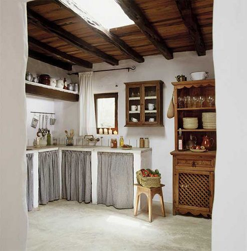 Find This Pin And More On Conserve W Cabinet Curtains Rustic Kitchen