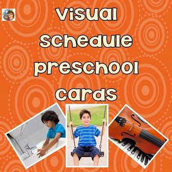 Visual Schedule Preschool CardsThis printable PDF has pages with real photos and also pages with clip art of children and home activities. One set of photo pages include words, and one set is just pictures. Help your children know what is going to happen next by selecting a few cards at a time.