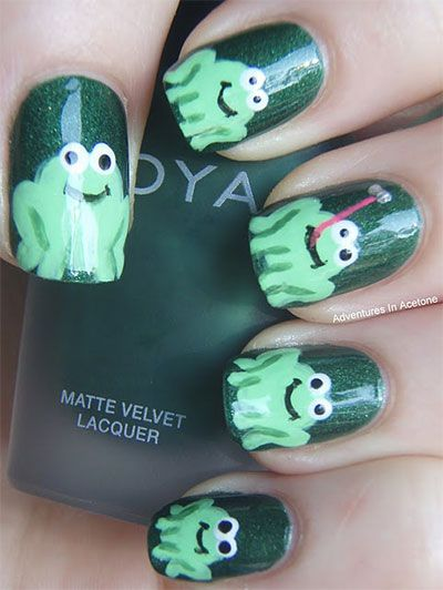 Frogs | Community Post: 14 Insanely Cute Animal Nail Art