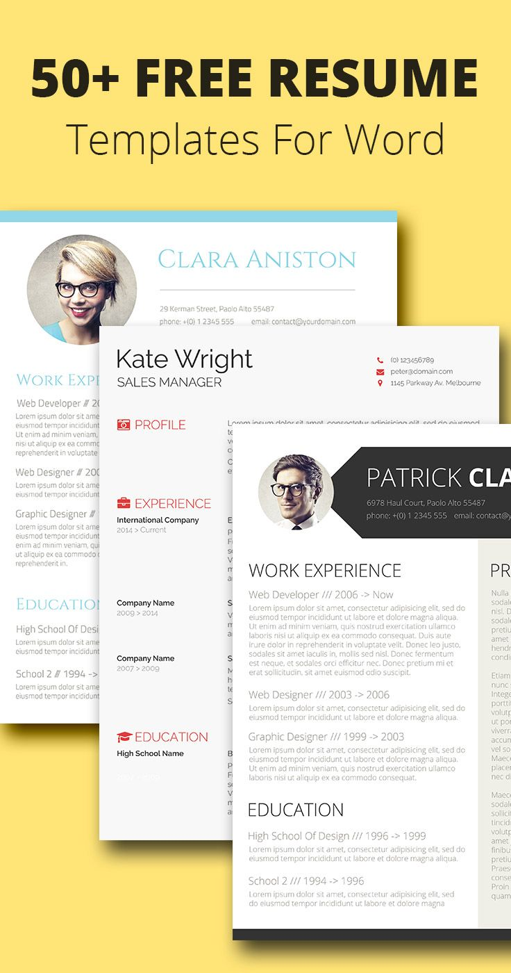 50 free resumecv templates for word - Cv Template For Free