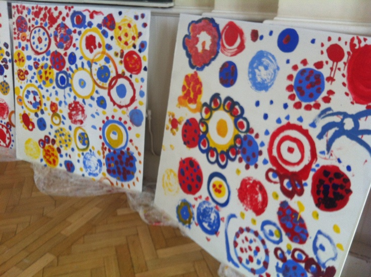 Boards prepared for the Hervé Tullet Pop Up Festival Experience