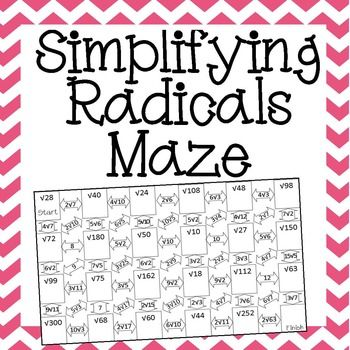 Simplifying Radical Expressions Worksheet With Work - algebra problems ...