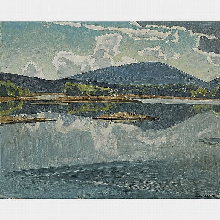 A.J. Casson - Morning Opeongo River 12 x 15 Oil on board (1959)